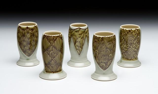 set of mini vases