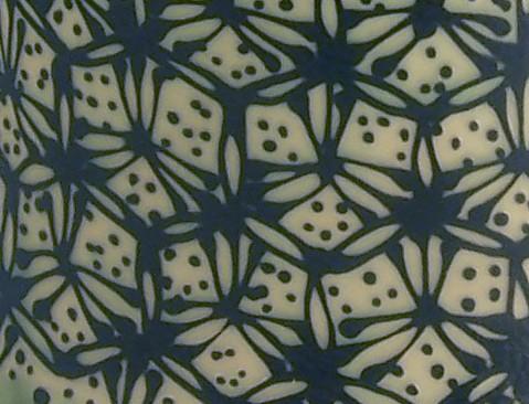 pattern hex blue green