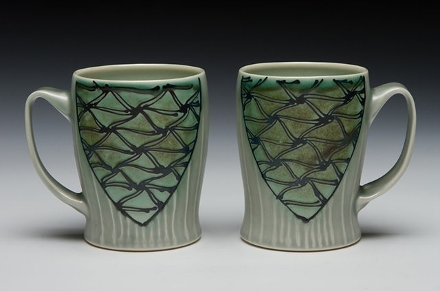 slim mugs minoan blue/green