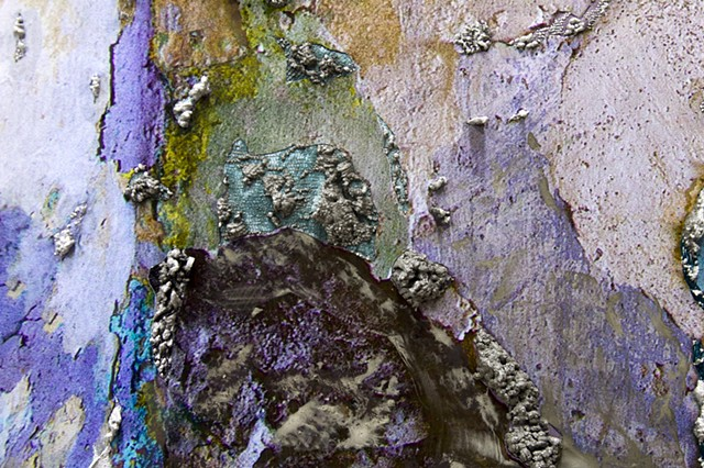 Detail: WS: Corner with Layers of Wall Paint