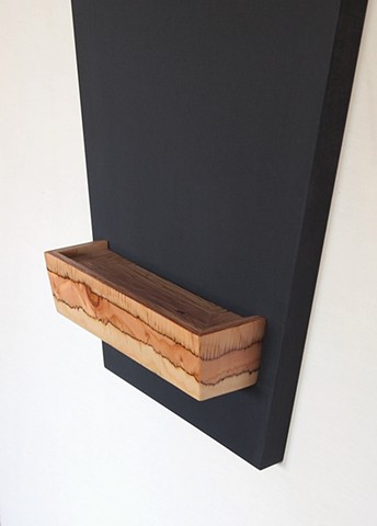 Modern chalkboard tray made with LVL, handmade and designed by Andrew Traub.