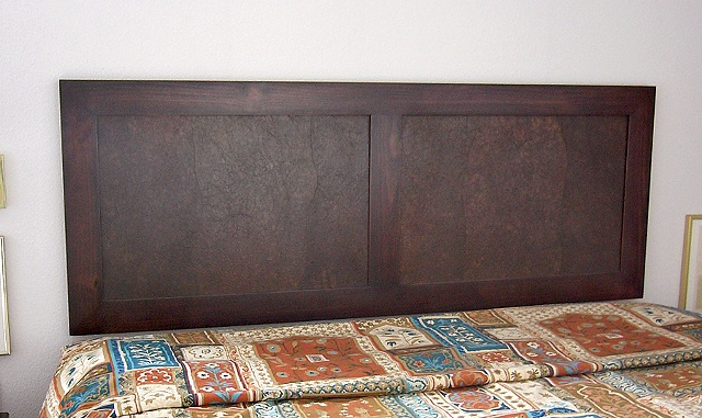 handmade headboard, wall hung