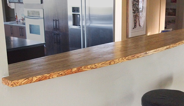 psl bar counter, custom wood bar top