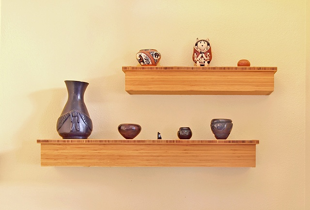 bamboo plywood shelves, modern box shelves