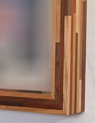 mirror frame, handmade modern, sustainable wood