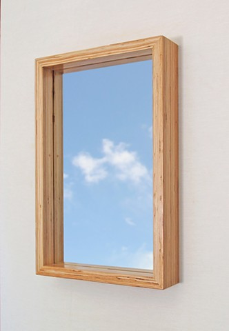 Modern wood mirror, microlam lvl, handmade by Andrew Traub, Andy Traub