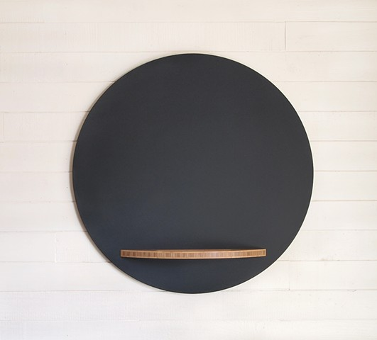 Handmade Modern Chalkboard Round with Bamboo Tray, chalkboard with tray, round hanging chalkboard