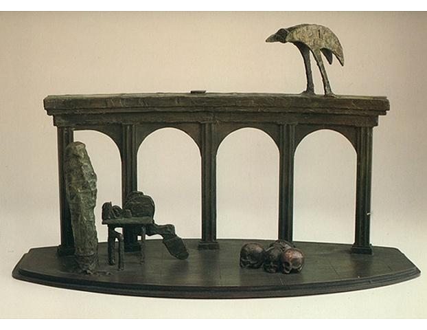 Poet Standing/with Skulls and Bird, 1983
