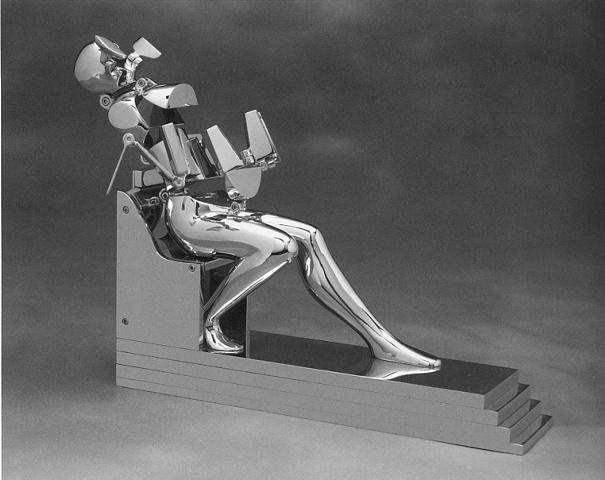 Study/Falling Man (Seated Figure IX)