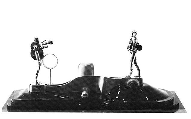 """FM/(2)6"""" Figures w/ Landscape, 1969"""