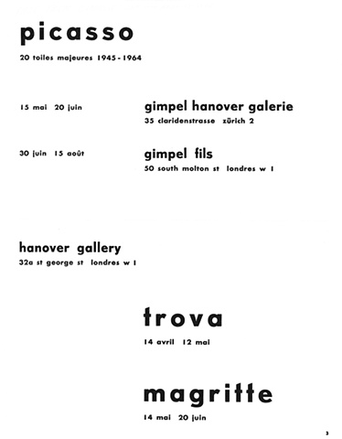 Hanover Gallery Advertisement