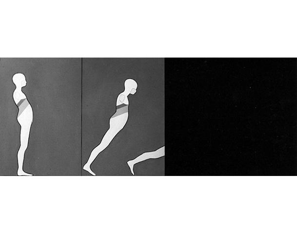 Study/Falling Man (Triptych)