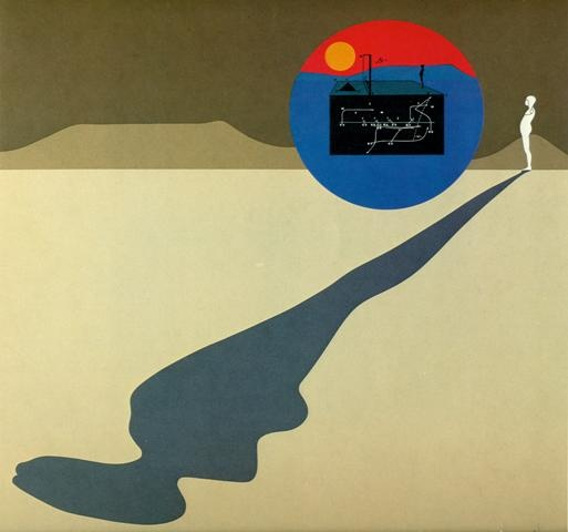 Falling Man/Perspective Shadow Man, 1972