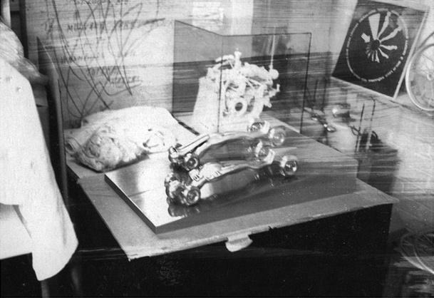 Polaroid of work in progress, circa 1965.