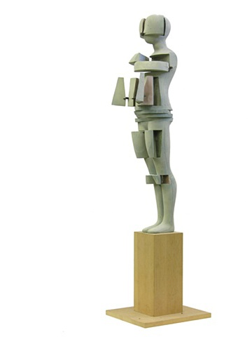 Model for unrealized Falling Man sculpture, 1992