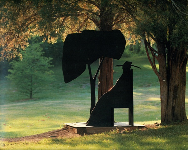 Poet Sitting by Tree in Chair, 1975