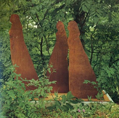 Three Women Poets (Walking), 1975