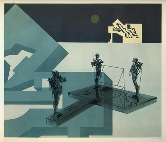 Study/Falling Man (Green Sun), 1978
