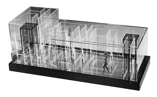 Study/Falling Man (Plexiglas Maze), 1965