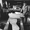 Trova in his studio
