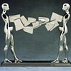 Study/Falling Man (Double Walking Figure), 1986