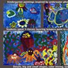 Kindergarten sea life paintings