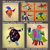 Pre-K and K bird collages