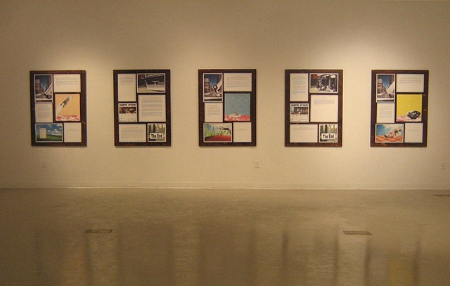 """""""Story Variations""""   (Installation view that combines text and image to create a version of the story on the gallery walls)"""