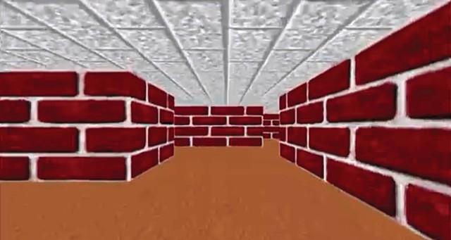 Screen capture from original Microsoft Windows 95/98 Maze Screensaver