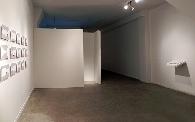 Watching Paint Dry as installed in La Centrale Galerie Powerhouse, Montréal, Québec (January 29 – February 5, 2014).