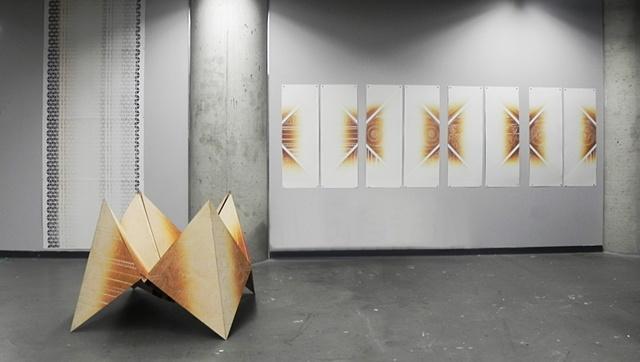 """Just Decide"" Sculpture Woodblock Fortunteller Printmaking"