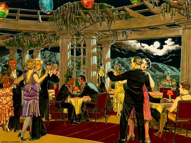 Wasatch Mountains, full moon, 1920's, Hotel Utah, dancing, wasatch tango, 1920's, cafe society, love,