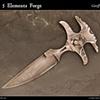 Damascus Push Dagger