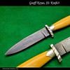 Walrus ivory and damascus bowie