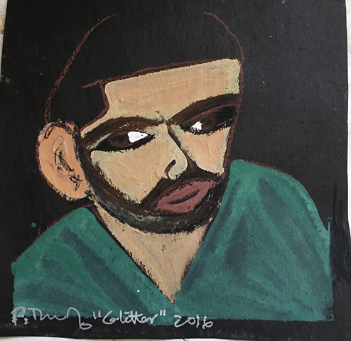 "Pop Icon Drake  portrait honors his song ""With My Woes"""