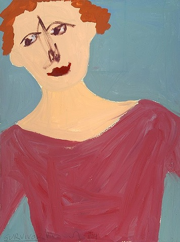 Portrait of a woman wearing a rose colored shirt by Patricia Dubroof