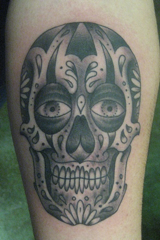 Sugar Skull Tattoo Black And Grey Black n grey sugar skull