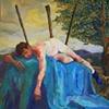 Saint Sebastian with Blue Sock