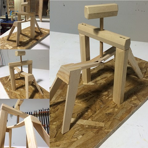 1/4 scale sawhorse sketching
