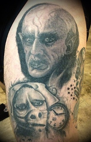healed nosferatu twilight zone tattoo