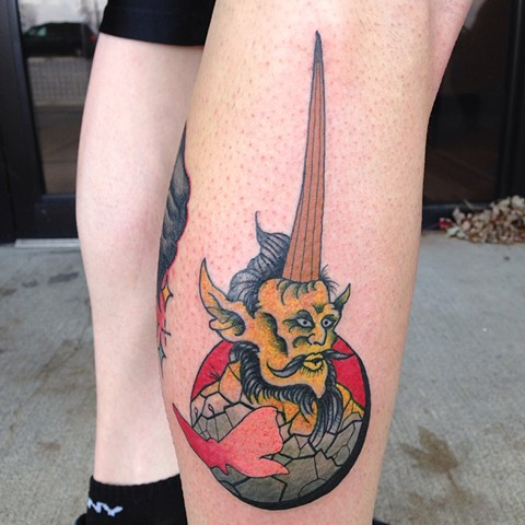 Tattoo, devilspalm, neofolk, demon, Muncie, Indiana, tattoos