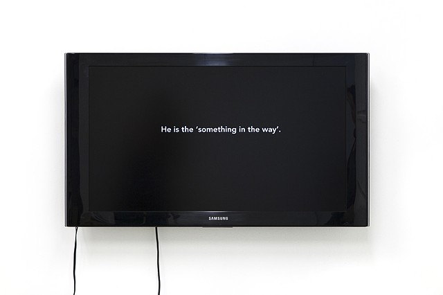 Something in the Way, installation image