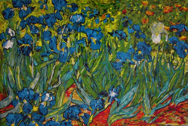 Inverted copy of Van Gogh's Irises of Arel