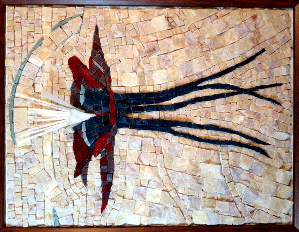 Columbine Flower Karen Chrisman Mosaic
