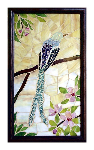 Bluebird of Happiness Mosaic Art