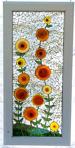 Flower Art Stained Glass on Glass Teresa Hollmeyer