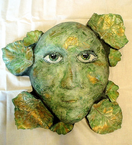 Green Lady Goddess Mother Earth Mosaic
