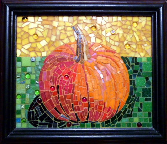 Pumpkin Mosaic Art Fall
