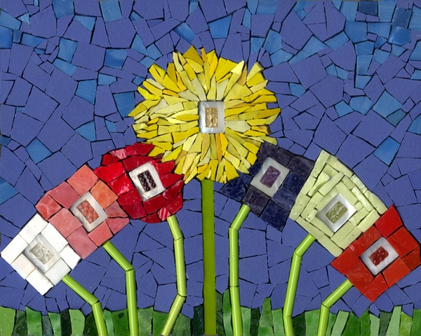 Flower Art Mosaic Ilona Fried