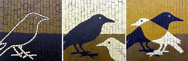Crow Mosaic Art
